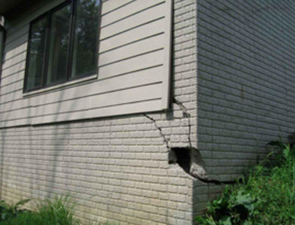 Cracked Brick Foundation