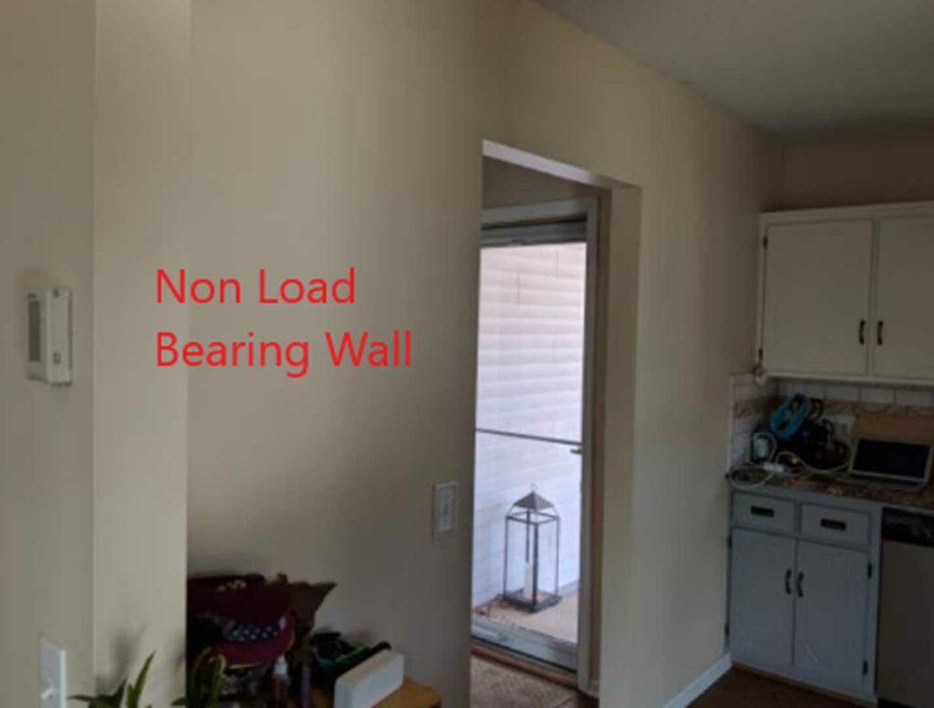 Non load bearing wall