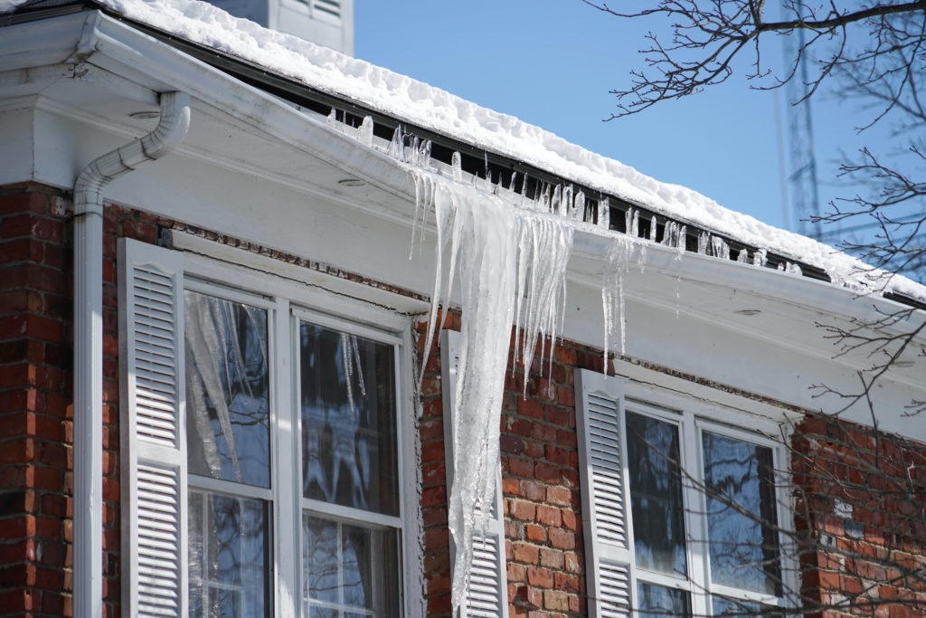 ice dam breaking gutter