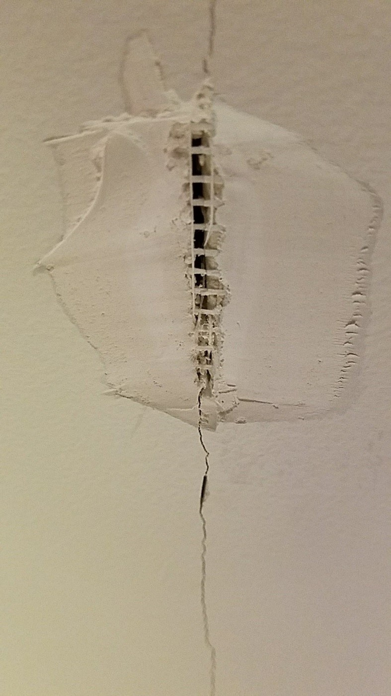 Failure to install sheetrock correctly