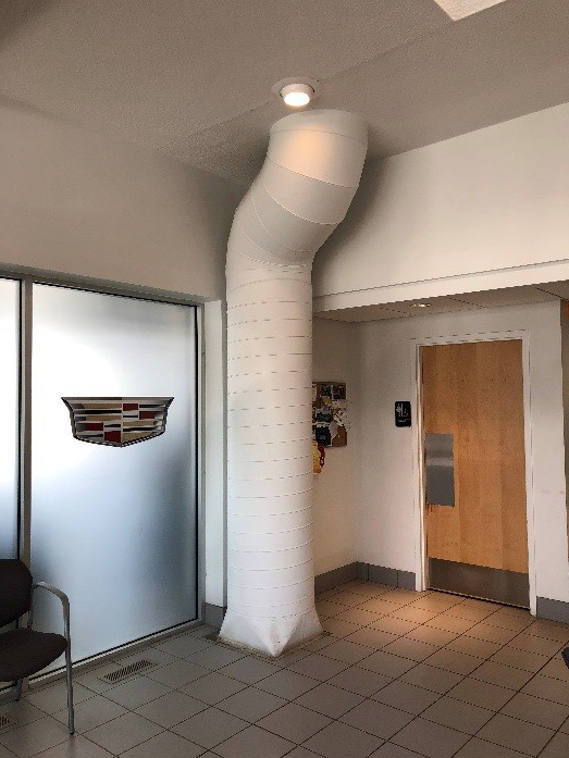 exposed ducting
