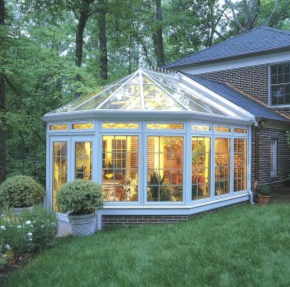 Large glass sunroom