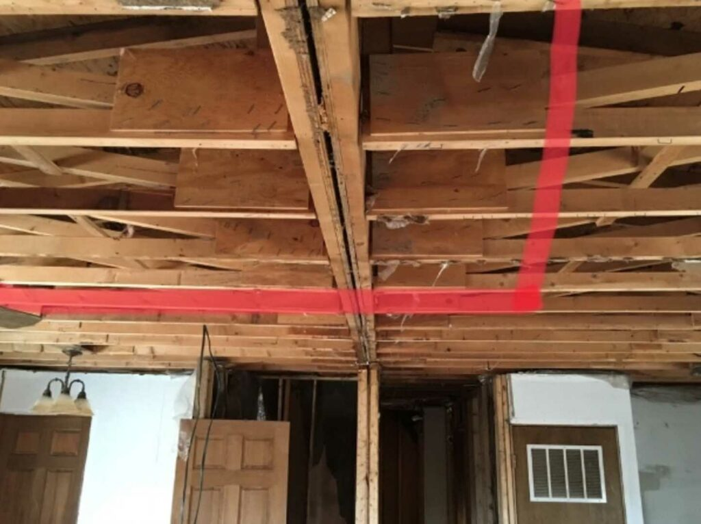 Mobile home load bearing wall