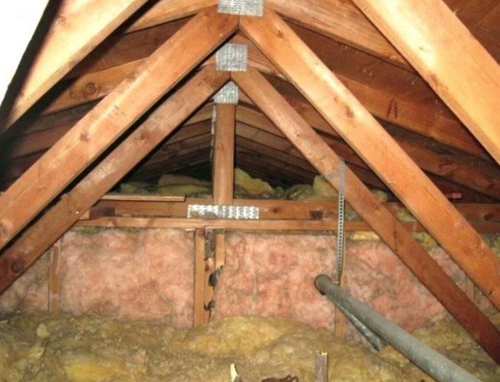 Trusses in the attic