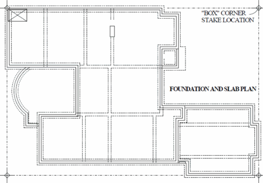 Foundation and slab plan