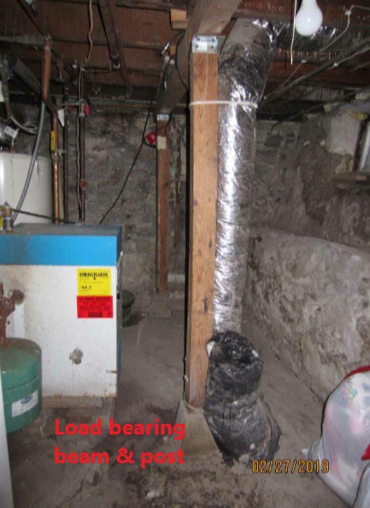 Load bearing beam and post