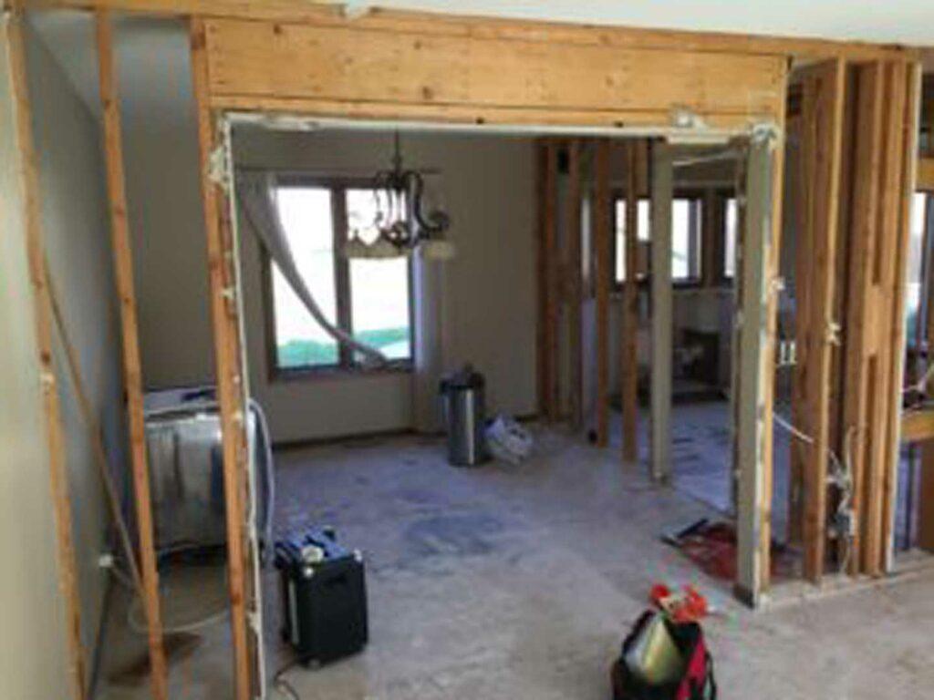 Interior load bearing wall