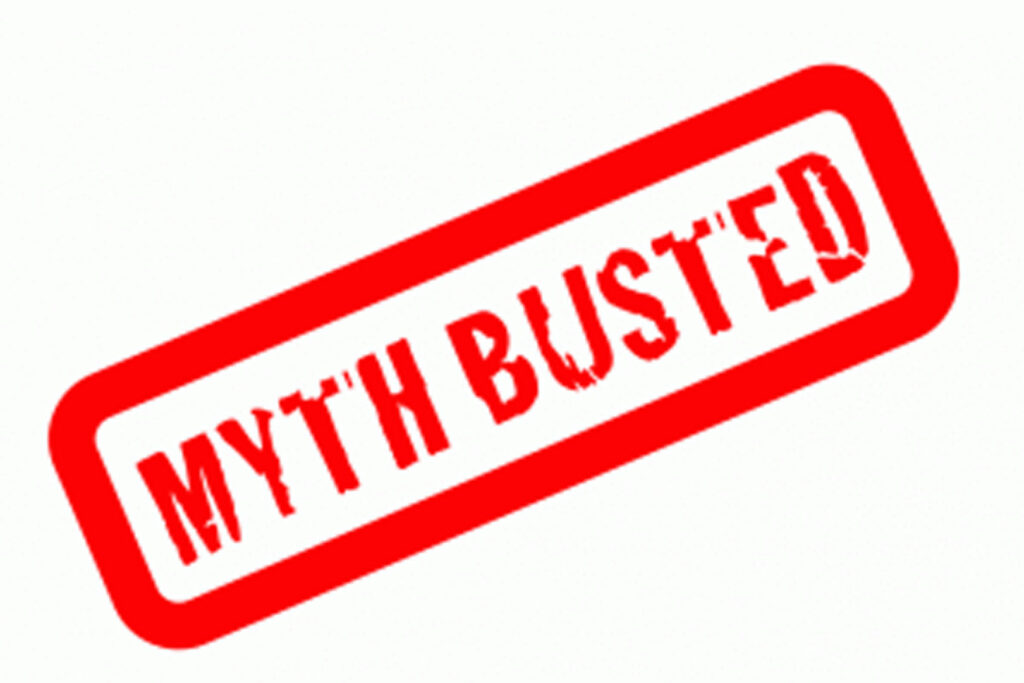 Stamp that read 'myth busted'