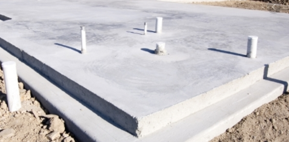 Example of slab foundation
