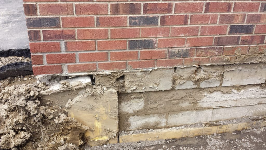 cracked and failing foundation