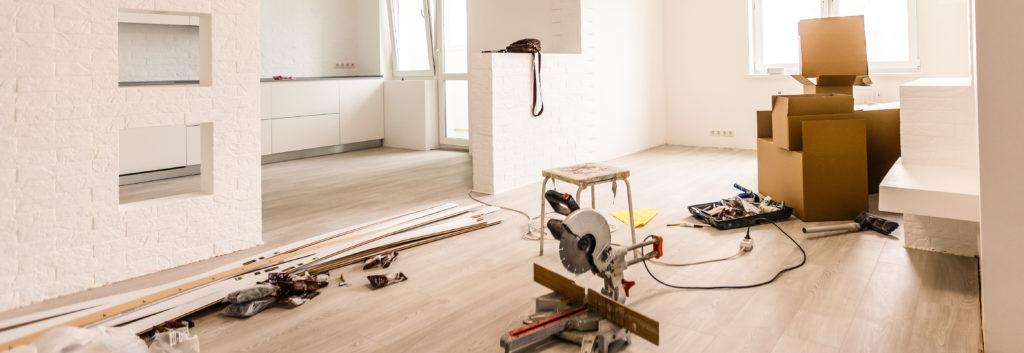 large renovation taking place