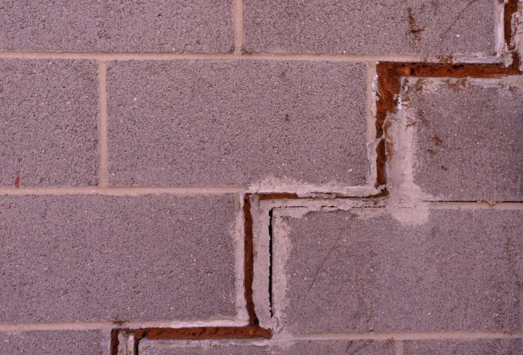 large foundation crack