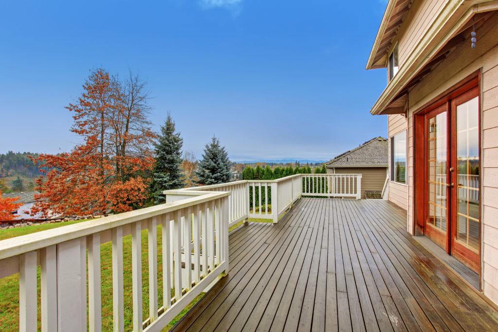 large deck addition